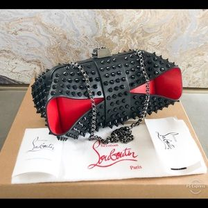 Christian Louboutin Grandotto Spike Leather Clutch